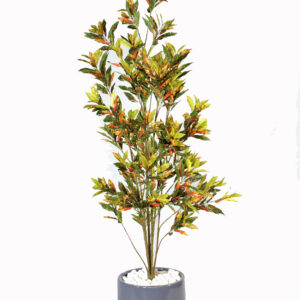 Artificial red croton plant